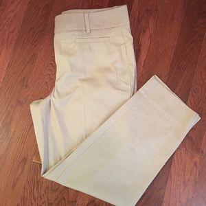 Ann Taylor Cropped Khaki pants